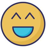 Big grin, laugh Vector Isolated Icon which can easily modify or edit vector illustration