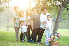 Big group of Asian multi generations family royalty free stock photography