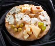 Big group of cheeses Stock Images