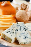 Big group of cheeses Stock Photo