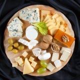 Big group of cheeses royalty free stock photos
