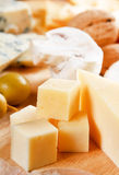 Big group of cheeses Royalty Free Stock Photos