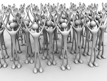 Big group or crowd Royalty Free Stock Images