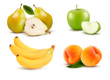 Big group of different fruit. royalty free illustration
