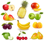 Big group of different fruit. Royalty Free Stock Image
