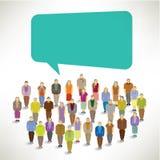 A Big Group of Elderly Gather Together. Vector Design vector illustration