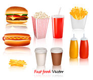 Big group of fast food products. Stock Image