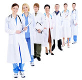 Big group of happy doctors stock photos