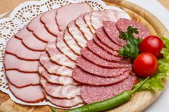 Big group of meat Stock Photo