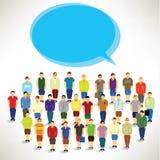 A Big Group of Men Gather Together. Vector Design royalty free illustration