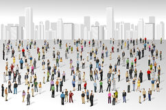 Big group of people. On the city Royalty Free Stock Image