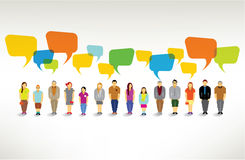 A Big Group of People Gather Together. A Big Group of People Gather and Talk Together Vector Design vector illustration
