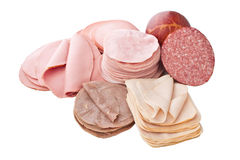Big Group of Sliced Meat Stock Images