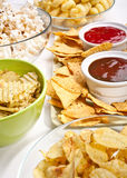 A big group of snacks Stock Images