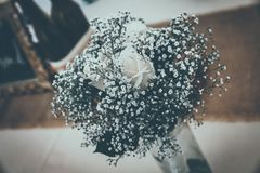 Group of white roses, wedding decorations Stock Image