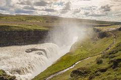 Big Gullfoss waterfall - Iceland. Royalty Free Stock Photos