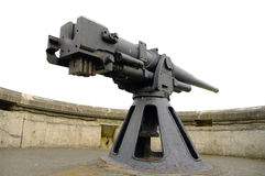 Big Gun. An antique WWII cannon at Fort Flagler in Washington State Stock Photo