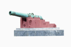Big gun cannon isolated on white background Royalty Free Stock Photo
