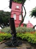 Big gun at Dutch square in Melaka Royalty Free Stock Images