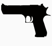 Big gun silhouette Stock Image