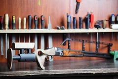 Big gun with wooden culo Stock Photos