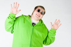 Big guy with black glasses Stock Photography