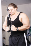 Big guy at exercise Royalty Free Stock Images
