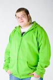 Big guy in a green shirt Royalty Free Stock Photography