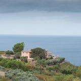 Big hacienda on the coast in mallorca.  Royalty Free Stock Photos