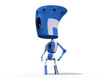 Big Had Robot royalty free stock photo