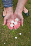 Big Hail after hailstorm Stock Photography