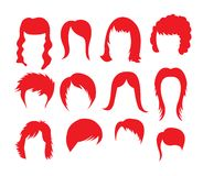 Big hairstyle collection Royalty Free Stock Image