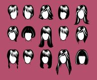Big hairstyle collection vector illustration