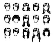 Big hairstyle collection. Vector illustration of big hairstyle collection stock illustration