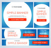 Big, half price and one day sale banners. Vector Royalty Free Stock Photography