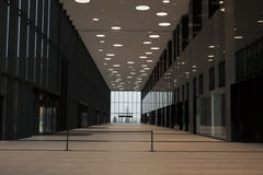 Big hall in modern building Royalty Free Stock Photo