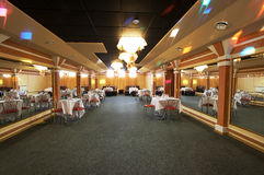 The big hall of restaurant Stock Images