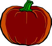 Big Halloween pumpkin Stock Photo
