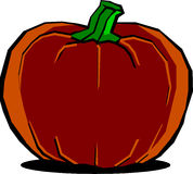Big Halloween pumpkin Stock Image