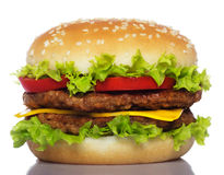 Big hamburger royalty free stock image