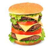 Big hamburger Stock Images