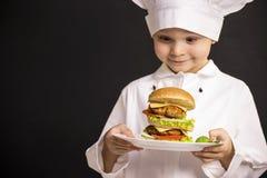 Big hamburger Stock Photos