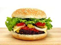 Big hamburger & cheese Royalty Free Stock Images