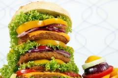 Big hamburger closeup Stock Photos