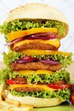 Big hamburger fast food Royalty Free Stock Photo