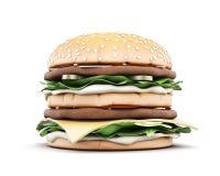 Big hamburger front view Royalty Free Stock Image