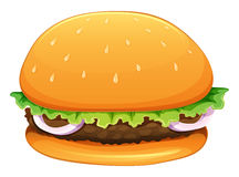 A big hamburger Stock Photography