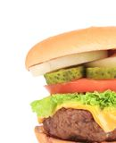 Big hamburger Stock Image