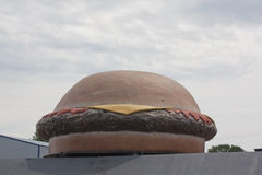 Big Hamburger Statue Stock Photo