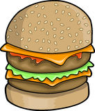 Big Hamburger Vector Illustration Stock Photo